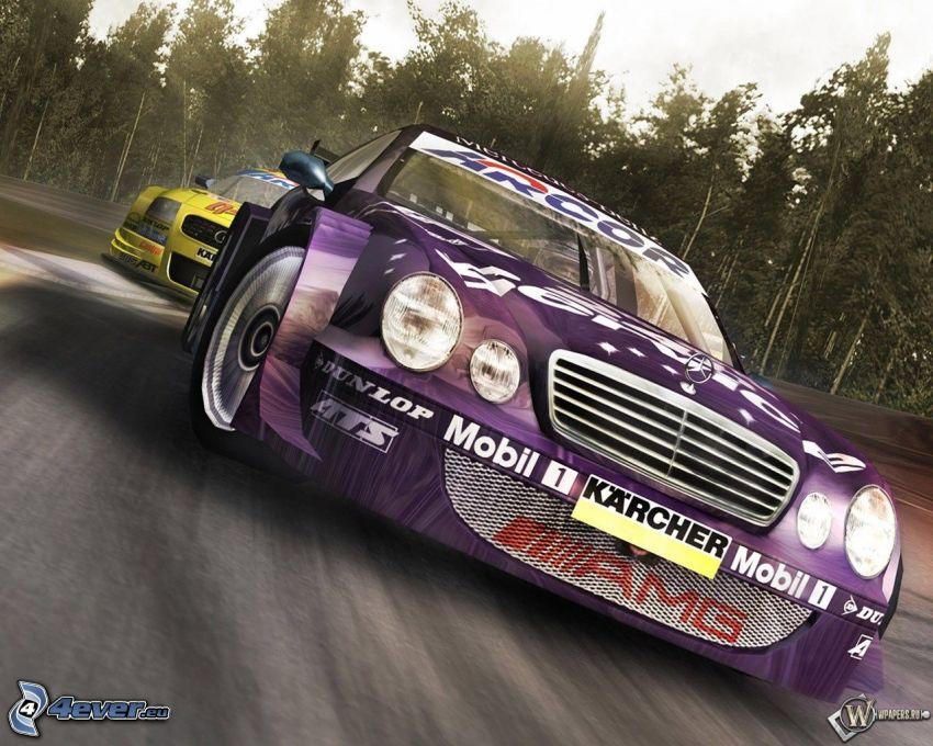 Mercedes, Rennwagen, Audi, Rennstrecke
