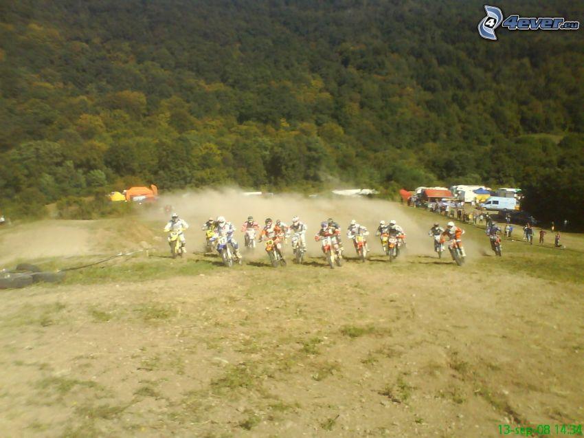 motocross, Staub