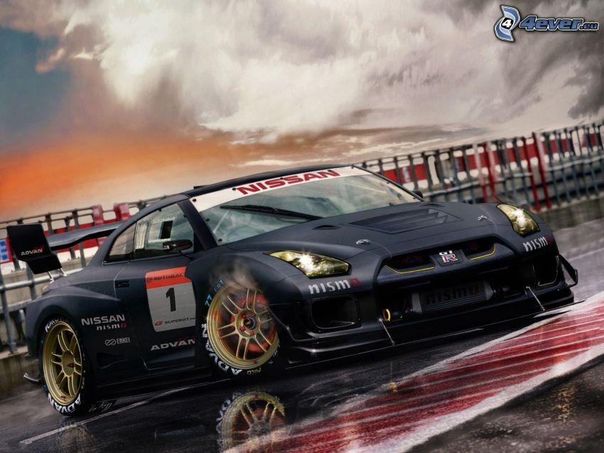 Nissan GTR, Rennstrecke