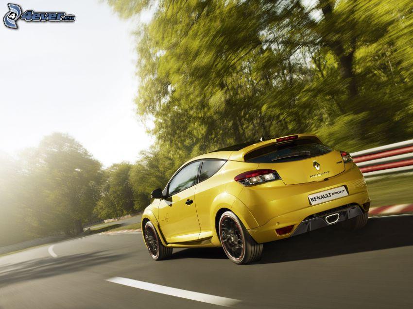 Renault Mégane Trophy, Rennstrecke, Geschwindigkeit