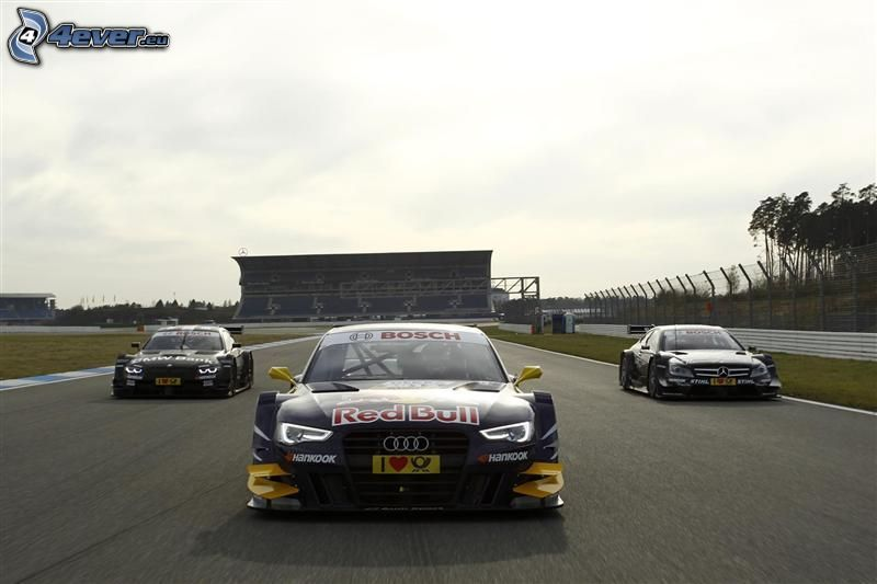 Rennen, Audi, BMW, Mercedes, Rennwagen, Rennstrecke