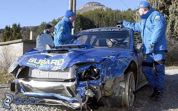 Subaru Impreza WRX STi, Wrack, Unfall, kaputtes Auto