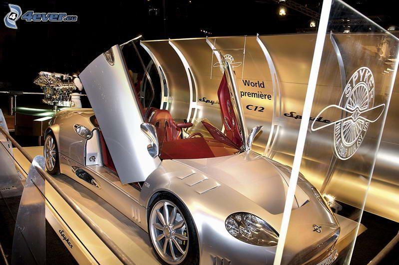 Spyker C12 Spyder, Supersportwagen, Ausstellung, Automobilausstellung