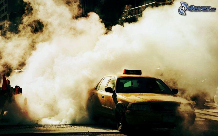 taxi, Rauch