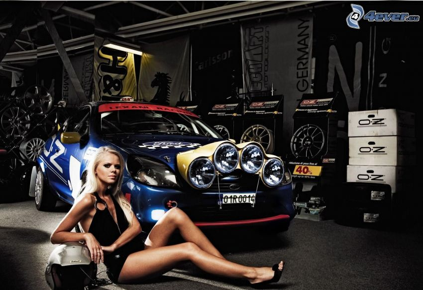 Ford, tuning, sexy Blondine
