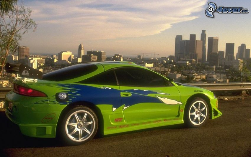 Mitsubishi Eclipse RS, tuning, The Fast and the Furious, Los Angeles