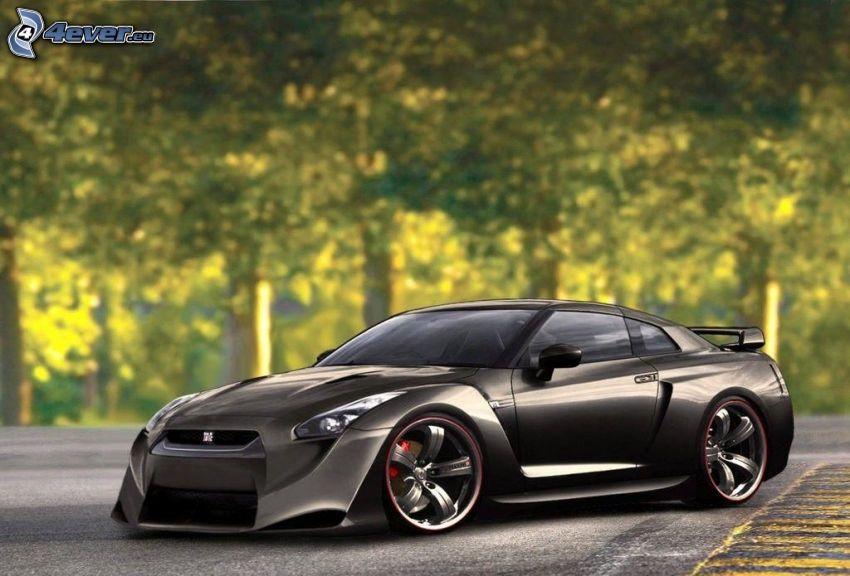 Nissan GT-R, tuning, Straße