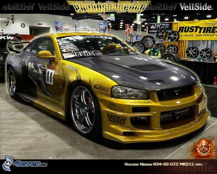 Nissan Skyline GT-R R34, virtual tuning