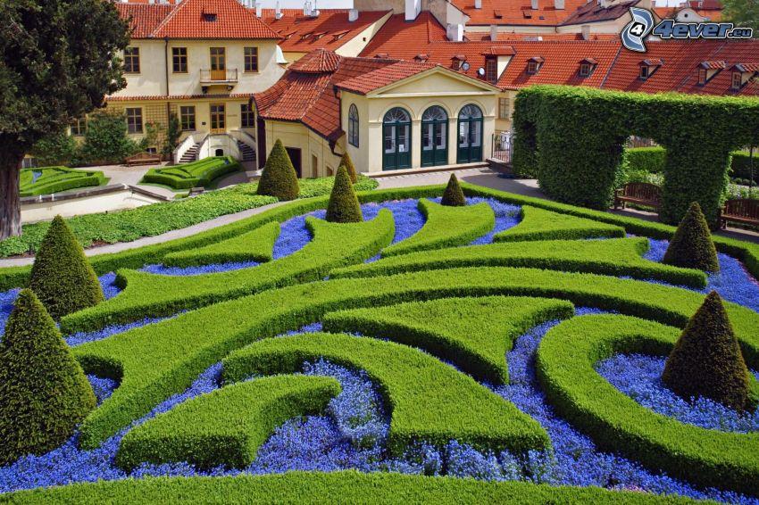 Botanischer Garten, Häuser