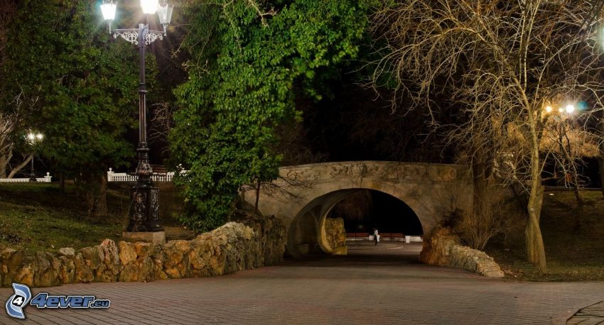 Brücke, Abend