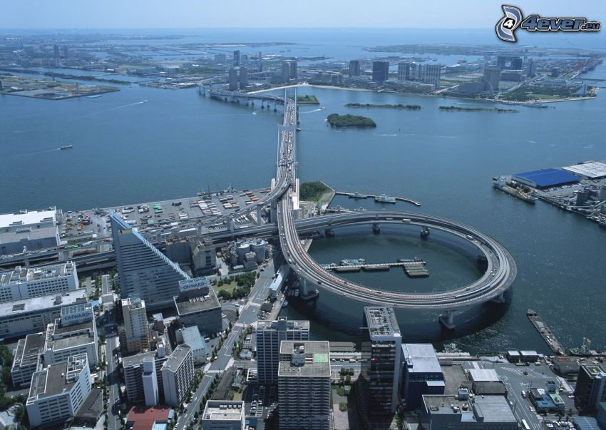Autobahnbrücke, Shanghai, City
