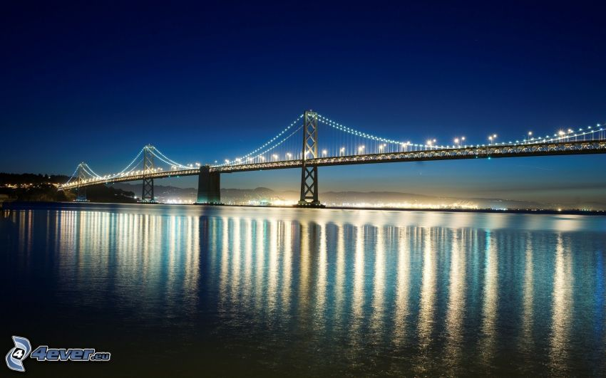 Bay Bridge, beleuchtete Brücke