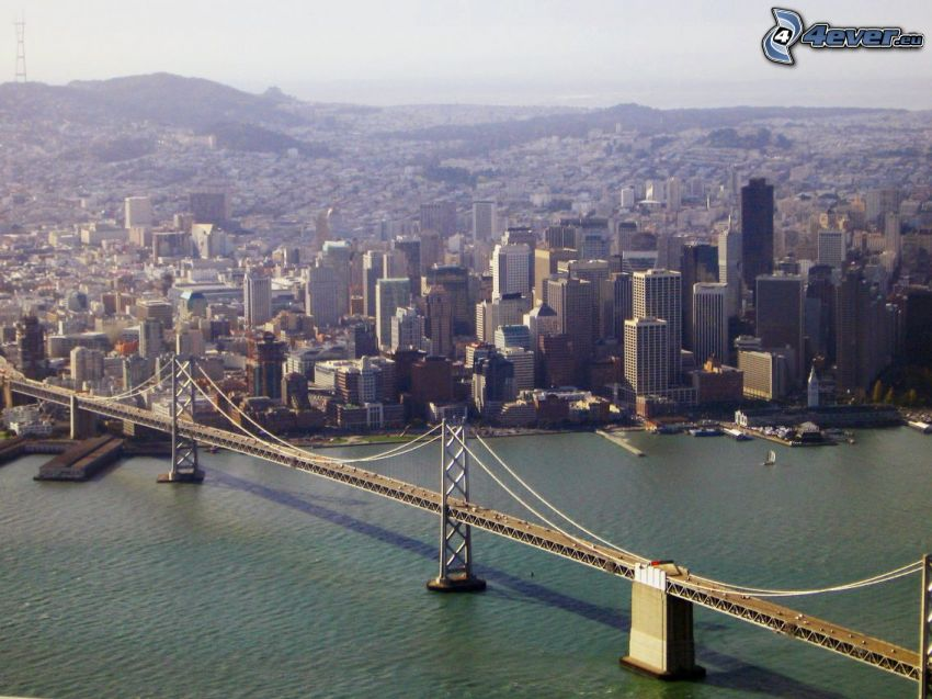Bay Bridge, San Francisco, Fliegersicht