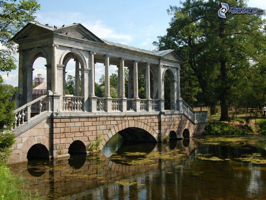 Brücke, Fluss, Park