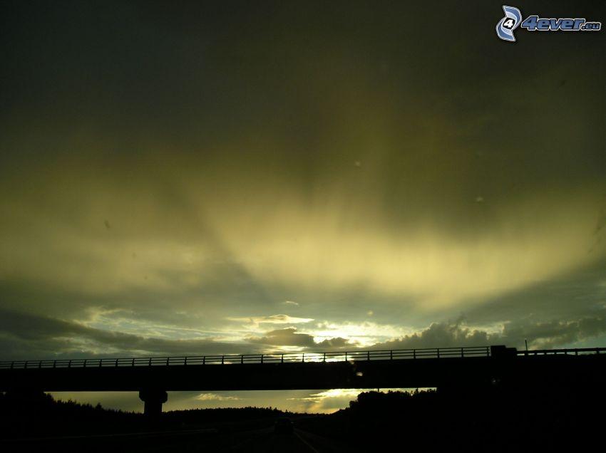 Brücke, Silhouette, Himmel