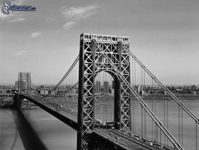 George Washington Bridge, Schwarzweiß Foto