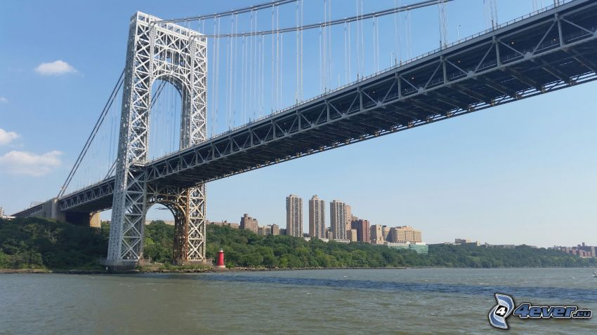George Washington Bridge, Wolkenkratzer