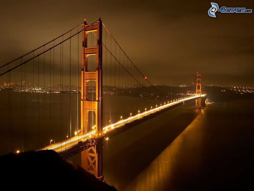 Golden Gate, beleuchtete Brücke