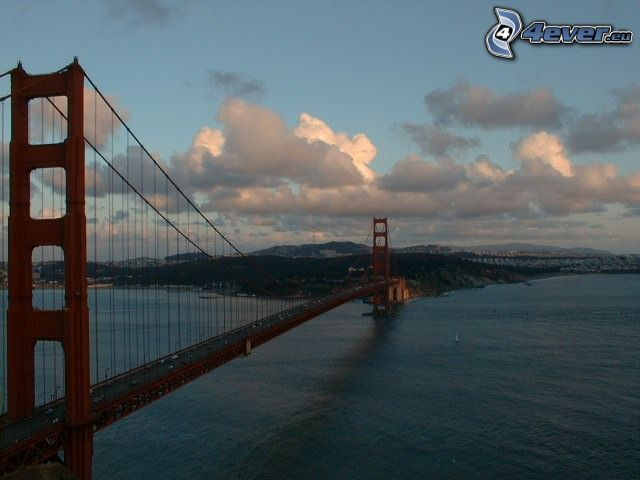 Golden Gate, San Francisco, Brücke, Meer
