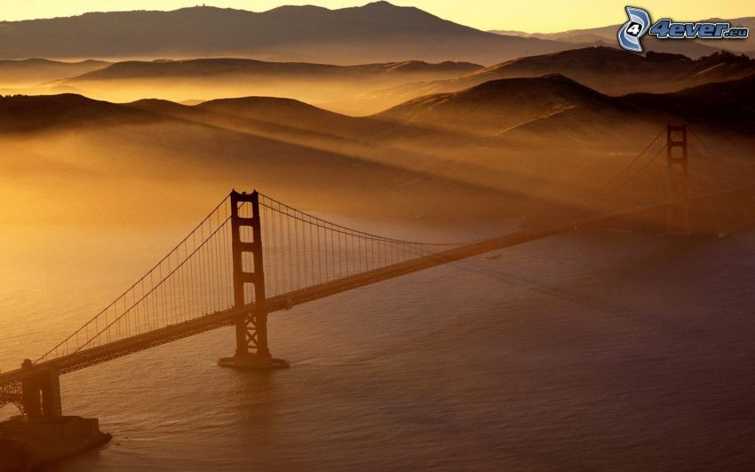 Golden Gate, San Francisco, Kalifornien, Sonnenstrahlen