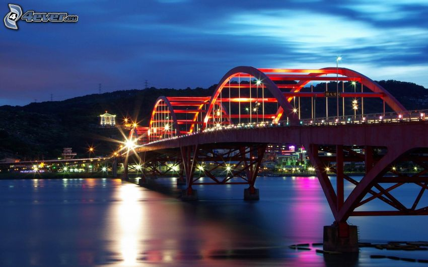Guandu Bridge, Taiwan, Fluss