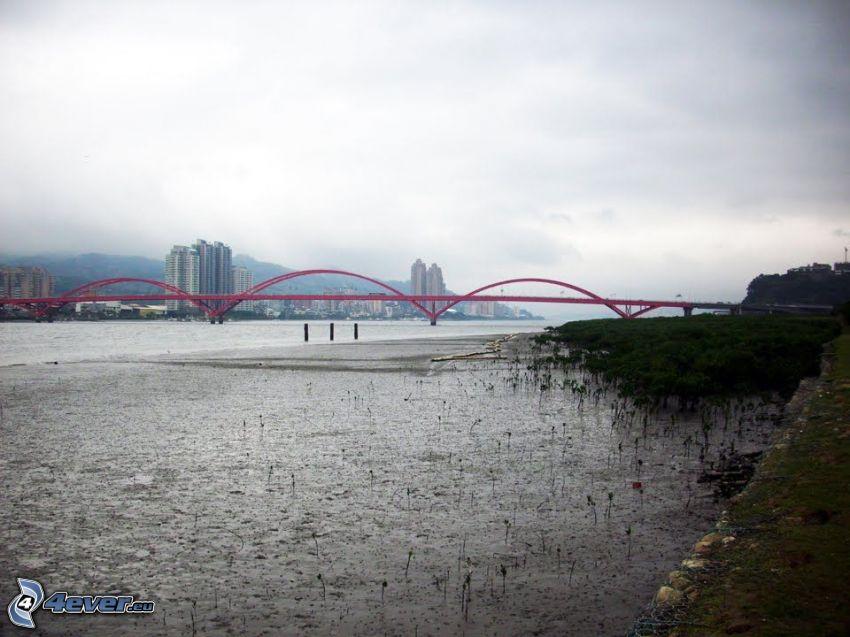 Guandu Bridge, Wolkenkratzer