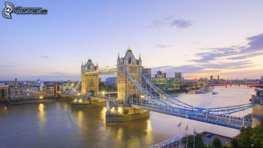 Tower Bridge, London, Brücke, England, Themse, Fluss