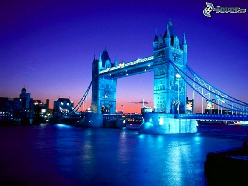 Tower Bridge, London, Themse, Fluss