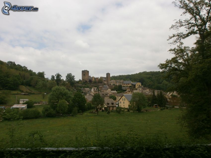 Dorf, Burg