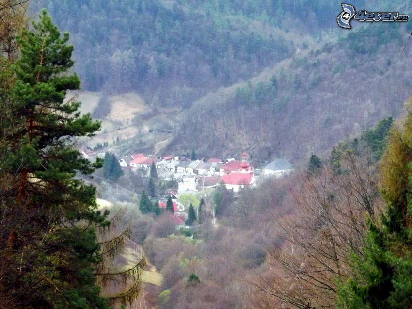 Dorf im Tal