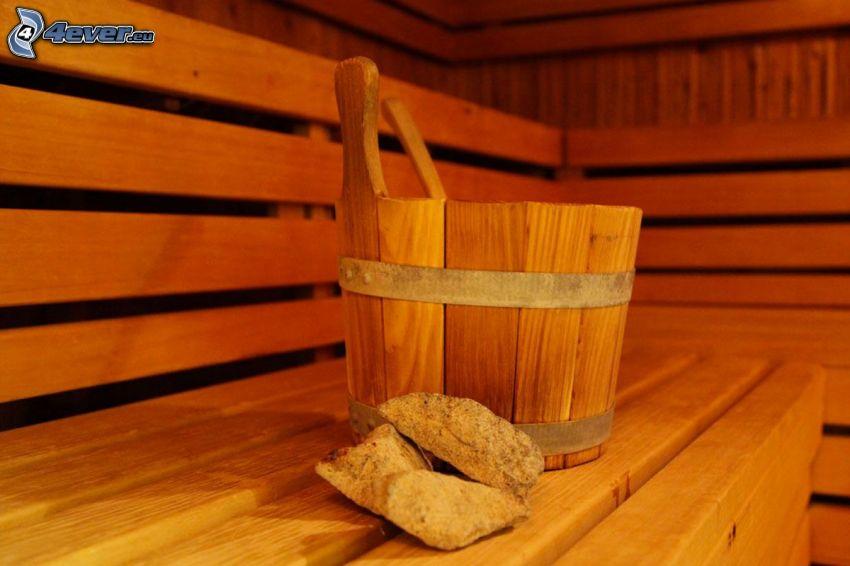 Eimer, Sauna