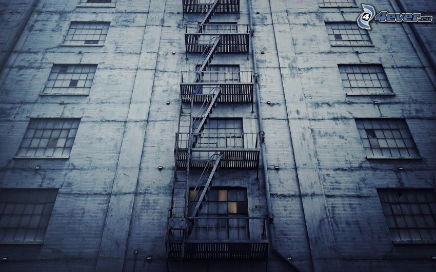 Feuerleiter, Gebäude, Fenster