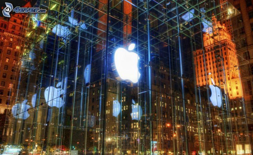 Gebäude, Apple, Glas