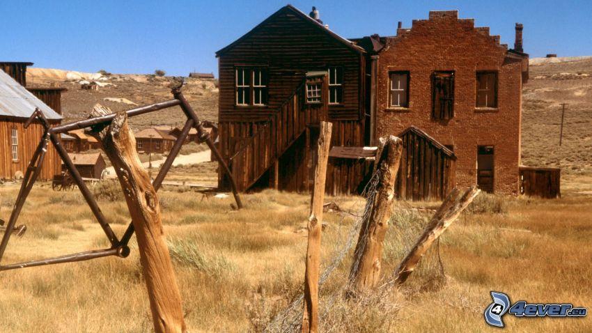 Häuser, alten Holzzaun