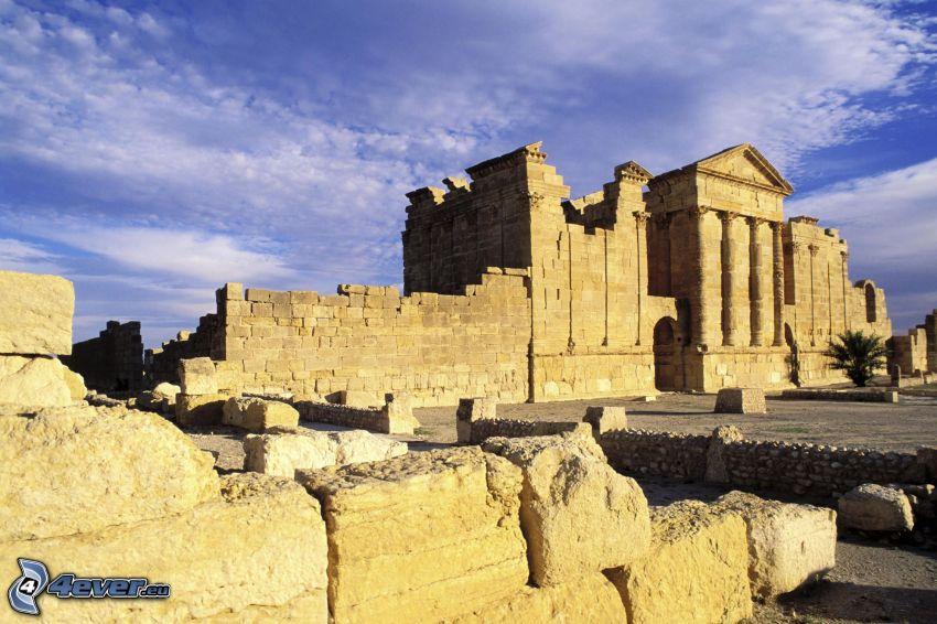 antikes Gebäude, Tempel, Ruine
