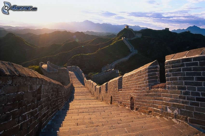 Chinesische Mauer, Berge