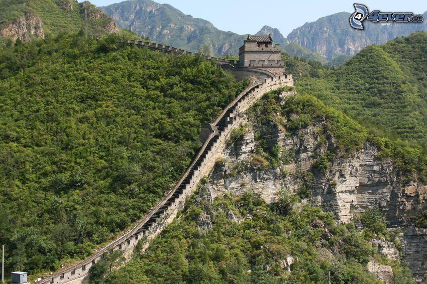 Chinesische Mauer, Felsen