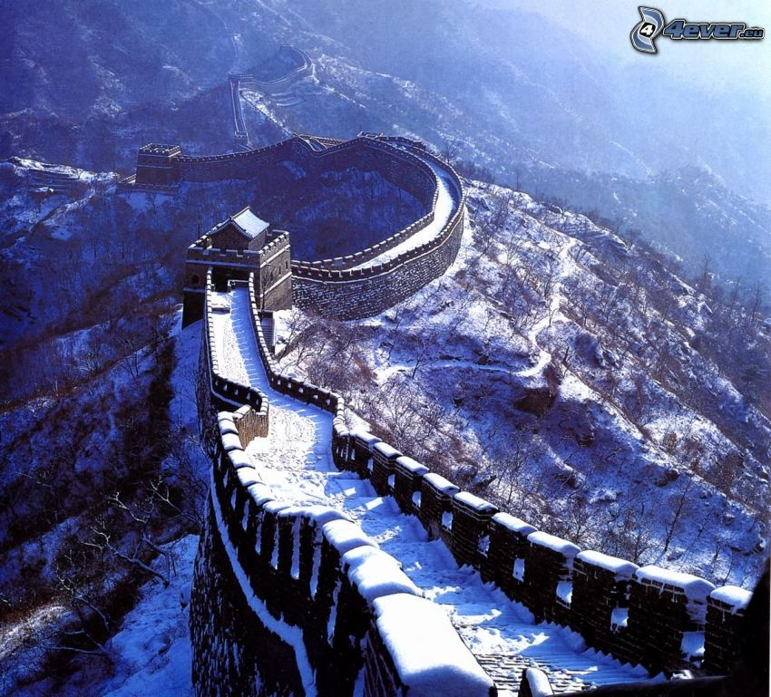 Chinesische Mauer, Schnee