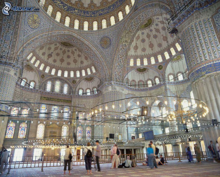 Die Blaue Moschee, Innenraum, Gewölbe