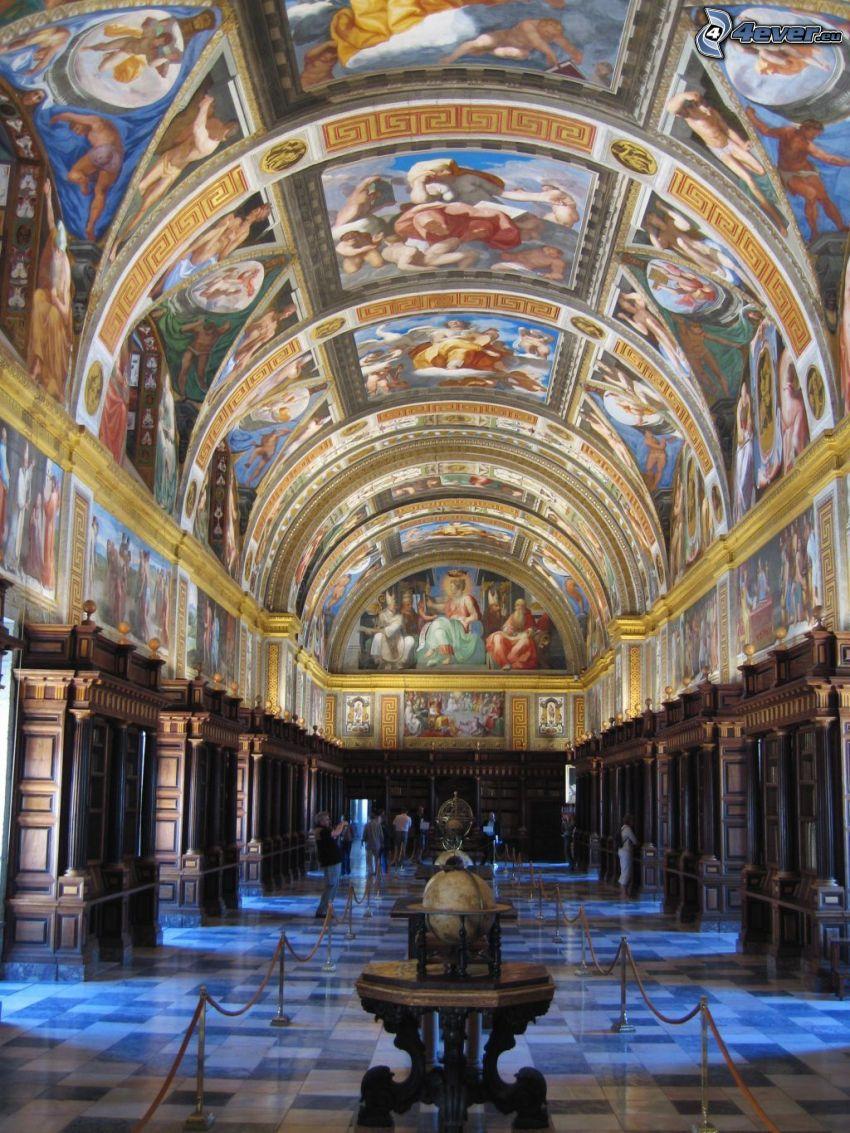 El Escorial, Innenraum, Gewölbe