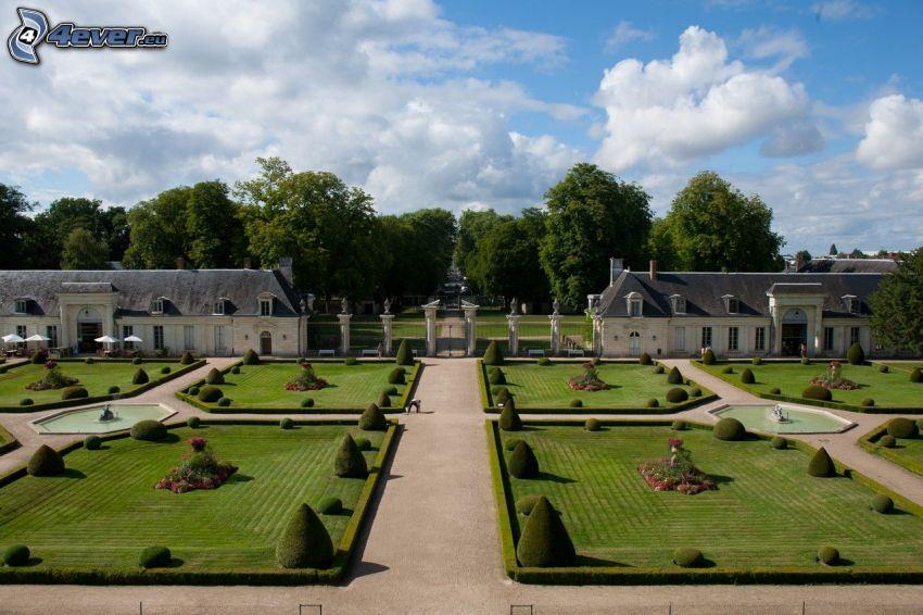 Garten, Schloss Valençay, Gehweg