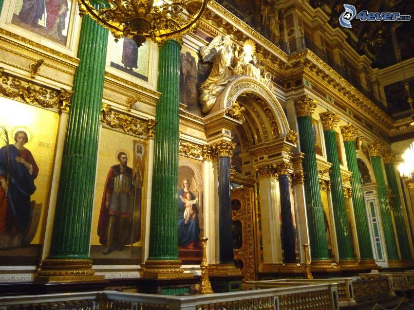 Isaakskathedrale, Säulen, Malerei
