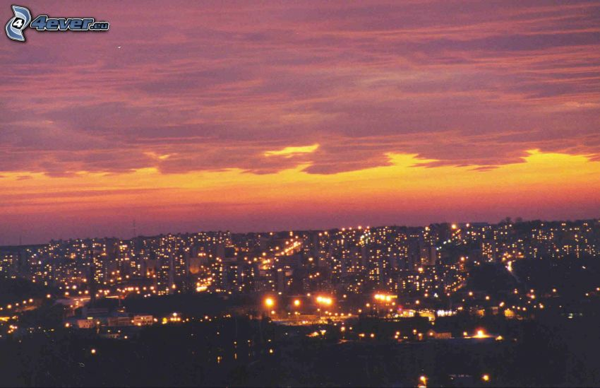 Nitra, Siedlung, Himmel