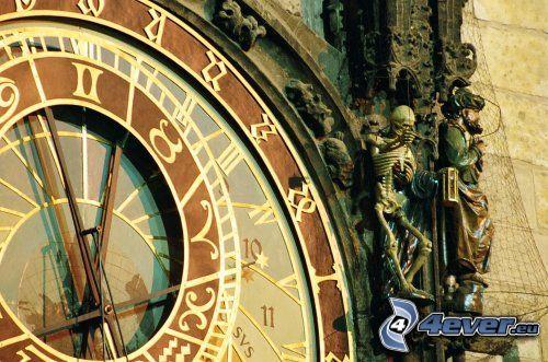 Prag, Astronomische Uhr, Skelett