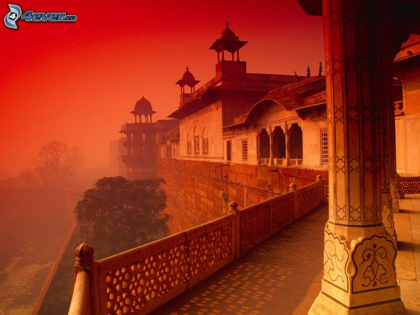 rotes Fort in Agra, Indien