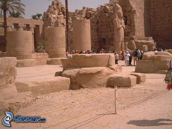 Tempel, Karnak, Luxor, Ägypten, Ruine