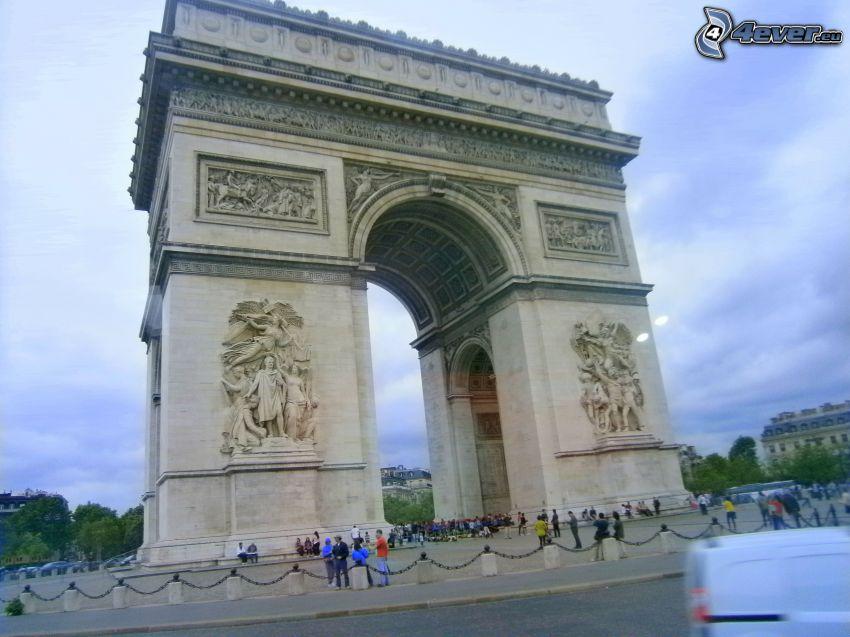 Triumphbogen, Paris, Frankreich, Menschen