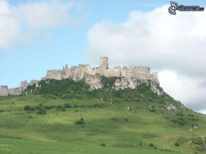 Zipser Burg, Slowakei, Wolken