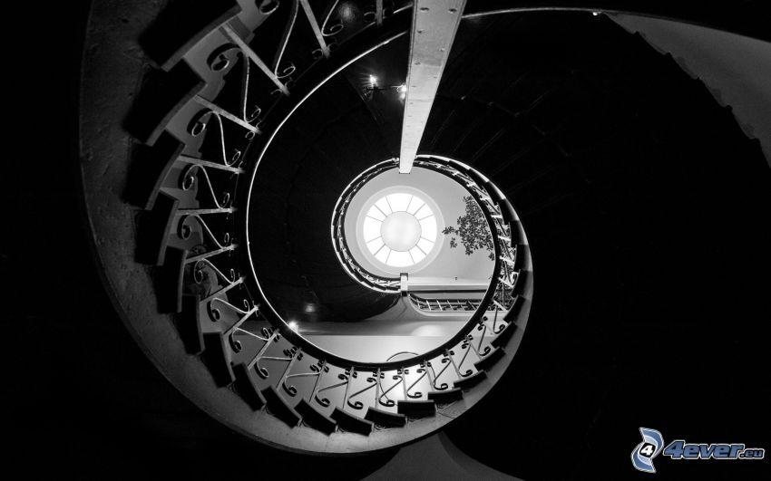 historische Treppe, Verdrehte Treppen