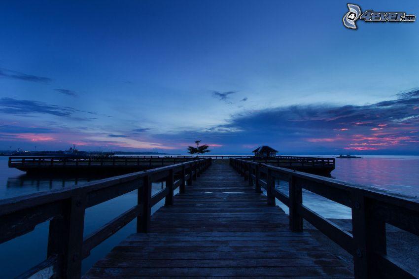 Holzsteg, Abendhimmel